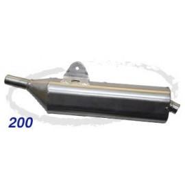 Silencieux WES Fantic 200 alu