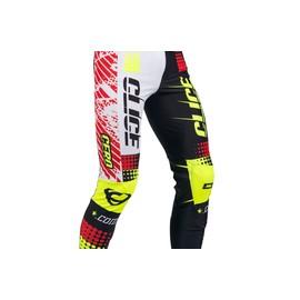 Pantalon CLICE Cero trial blanc/rouge