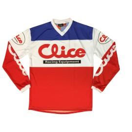 Maillot CLICE vintage rouge/bleu