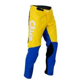 Pantalon CLICE baggy vintage jaune/bleu