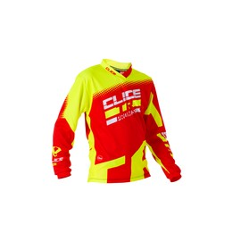 Maillot CLICE enfant trial rouge