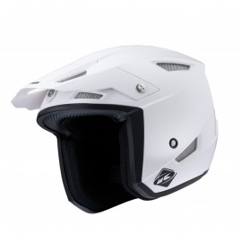 Casque kenny TRIAL UP solid blanc