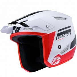 Casque kenny TRIAL UP GRAPHIC blanc/ROUGE
